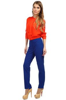 Синие классические женские брюки Mondigo