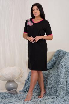 Новинка: свободная черная ночная сорочка Натали