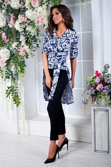 Блузка со шлейфом и короткими рукавами Angela Ricci