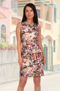 Платье футляр с поясом Натали