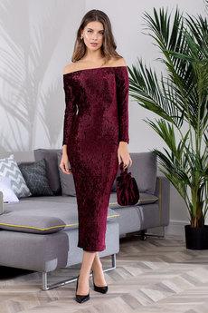 Бордовое вечернее платье RUXARA со скидкой