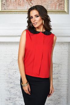 Красная блузка без рукавов Angela Ricci